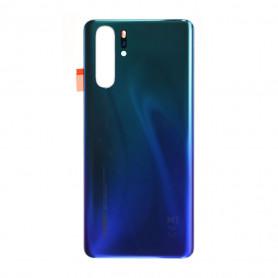 Vitre arrière Huawei P30 Pro Bleu Aurora - Avec logo + Adhésif