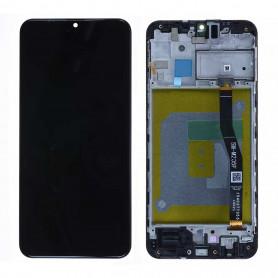 Écran Samsung Galaxy M20 (M205F) Noir Charbon Sur Châssis (Service Pack)