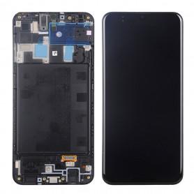 Écran Samsung Galaxy A20 (A205F) Noir Sur Châssis (Service Pack)