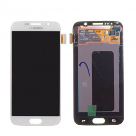 Ecran Samsung Galaxy S6 (G920F) Blanc LCD Sur Chassis (Compatible)