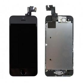 Ecran Complet iPhone 5S/SE Noir Prémonté avec Caméra avant + Ecouteur Interne + Bouton Home (Prémonté)