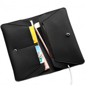 Pochette Noir PU Leather multifonction Etui