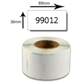 Étiquettes Compatibles Dymo 99012 36 mm x 89 mm 260 Étiquettes par Rouleau