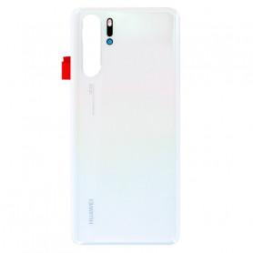 Vitre arrière Huawei P30 Pro Blanc Perle + Adhésif