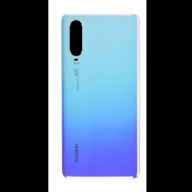Vitre arrière Huawei P30 Bleu Nacré  + Adhésif