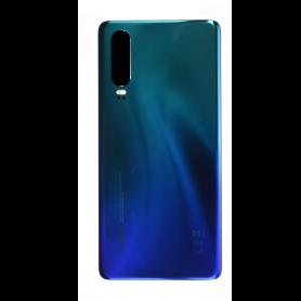 Vitre arrière Huawei P30 Bleu Aurora  + Adhésif
