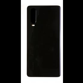 Vitre arrière Huawei P30 Noir  + Adhésif