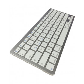 Clavier (français azerty) sans fil Bluetooth Ultra Slim iOS, iPhone, iPad, Android, Mac, Windows - Argent