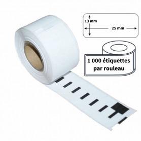 Étiquettes Compatibles Dymo 11353 - 25 X 13MM 1000 Étiquettes par Rouleau