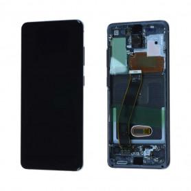 Ecran Samsung Galaxy S20 Plus 4G/5G (G985F/G986F) Noir + Châssis (Service Pack)