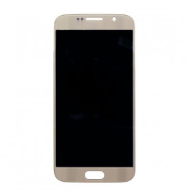 Ecran LCD + Vitre Tactile Blanc - Samsung Galaxy S6 Or
