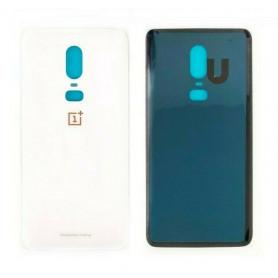 Vitre arrière OnePlus 6 Blanc + Adhesif