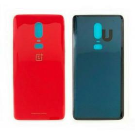 Vitre arrière OnePlus 6 Rouge + Adhesif