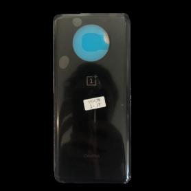 Vitre arrière OnePlus 7T Noir - Avec logo + Adhesif