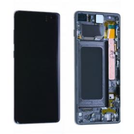 Écran Samsung Galaxy S10 Plus (G975F) Noir + Châssis (Service Pack)