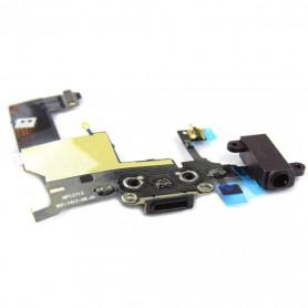 iPhone 5 - Connecteur de charge + Micro + Prise Jack + Antenne GSM -Noir