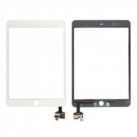 Vitre tactile assemblée iPad Mini 3 Blanc