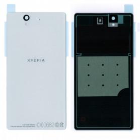 Vitre arrière Sony Xperia Z (C6603) Blanc- Avec logo + Adhesif