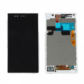 Écran complet Sony Xperia Z Ultra (C6806) Blanc LCD+ Vitre Tactile