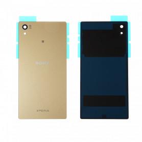 Vitre arrière Sony Xperia Z5 (E6603) Or - Avec logo + Adhesif