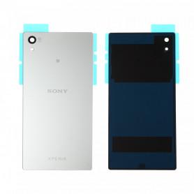 Vitre arrière Sony Xperia Z5 (E6603) Blanc - Avec logo + Adhesif