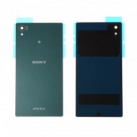 Vitre arrière Sony Xperia Z5 (E6603) Vert - Avec logo + Adhesif
