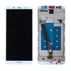 Ecran Complet Huawei Mate 10 Lite Blanc LCD + Vitre Tactile Sur Châssis Original