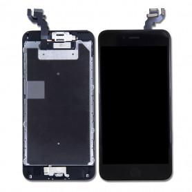 Ecran Complet iPhone 6S Plus Noir Prémonté avec Vitre Tactile + LCD + Caméra avant + Bouton Home- GRADE AAA (Compatible complet)