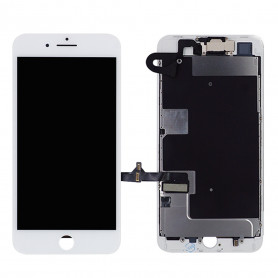 Ecran Complet iPhone 8 Blanc Prémonté avec Caméra avant + Ecouteur Interne (Compatible complet)
