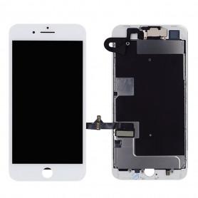 Ecran Complet iPhone 8 Plus Blanc Prémonté avec Caméra avant + Ecouteur Interne (Compatible complet)