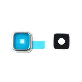 Vitre caméra arrière Samsung Galaxy S5 (G900F) Argent Contour + Vitre cache