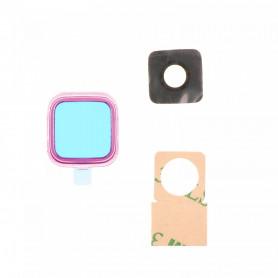 Vitre caméra arrière Samsung Galaxy Note4 (N910F) Rose Contour + Vitre cache