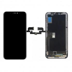 Ecran iPhone X Noir LCD + Vitre Tactile Sur Chassis - Original