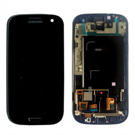 Ecran Samsung Galaxy S3 (i9300) Noir LCD+Home Sur Chassis (Compatible)