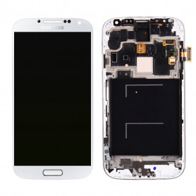 Ecran Samsung Galaxy S4 (i9505/i9500) Blanc LCD+Home Sur Chassis (Compatible)
