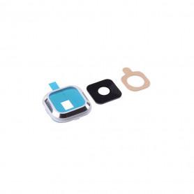 Vitre caméra arrière Samsung Galaxy A3 (A300FU) Blanc Contour + Vitre cache