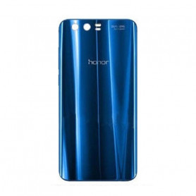 Vitre arrière HUAWEI Honor 9 Bleu - Avec Logo + Adhesif