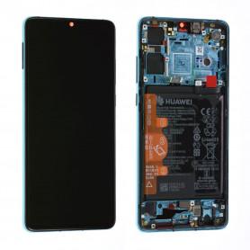Écran / Châssis / Batterie Huawei P30 Bleu Aurora (Origine)