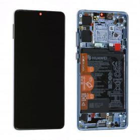 Écran / Châssis / Batterie Huawei P30 Bleu Nacré (Origine)