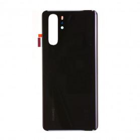 Vitre arrière Huawei P30 Pro Noir - Avec logo + Adhésif