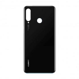 Vitre arrière Huawei P30 Lite Noir - Avec logo + Adhésif